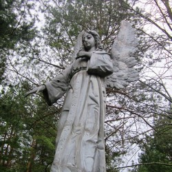 Ангел на кладбище в поселке Дворец (Дятловский р-н, Беларусь)
