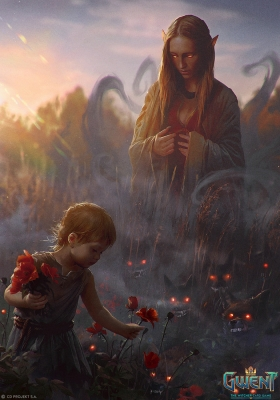"Агуара. Иллюстрация Анны Подедворной к ККИ ""Gwent: The Witcher Card Game"""