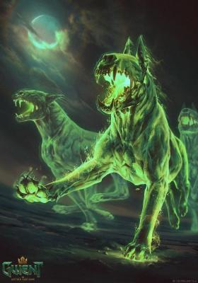 """Баргест. Иллюстрация Анны Подедворной к ККИ """"Gwent: The Witcher Card Game"""""""
