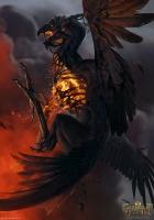 """Феникс. Иллюстрация Анны Подедворной к ККИ """"Gwent: The Witcher Card Game"""""""