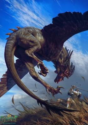 """Кокатрис. Иллюстрация Анны Подедворной к ККИ """"Gwent: The Witcher Card Game"""""""