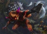 """Nimble Birdsticker. Иллюстрация Анны Подедворной к ККИ """"Magic the Gathering"""""""