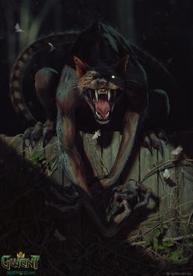 """Веркэт. Иллюстрация Анны Подедворной к ККИ """"Gwent: The Witcher Card Game"""""""