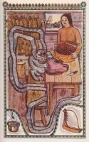"""Аньсих Сисьва Пялт. Иллюстрация Ф.Божко к сказке """"Сынок с оленье ушко"""""""