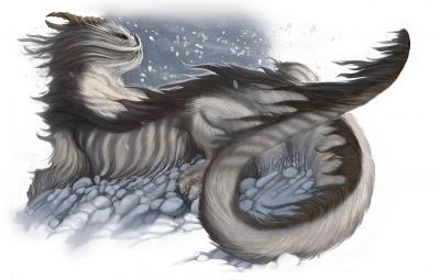Арктический дракон. Иллюстрация Уильяма О'Коннора
