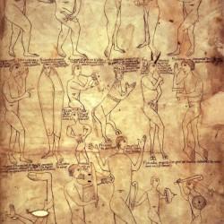 Чудовищные племена. Иллюстрация из Арнштайнской библии