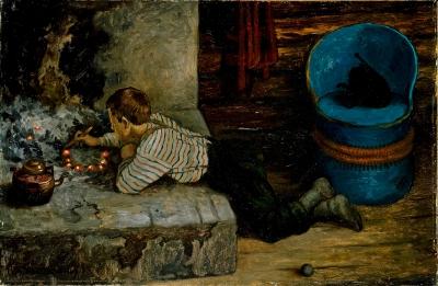 Приключения замарашки (Askeladdens eventyr). Иллюстрация Теодора Киттельсена, 1900