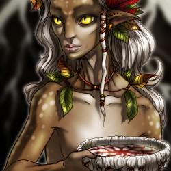 """Дитя леса. Иллюстрация Крис """"SickDelusion"""" Франциско"""