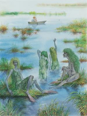 Озерницы. Иллюстрация Валерия Славука