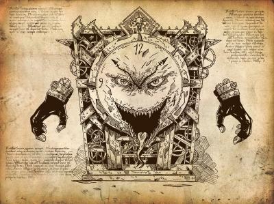 Часовой монстр Дзоригами. Рисунок Lee Smart