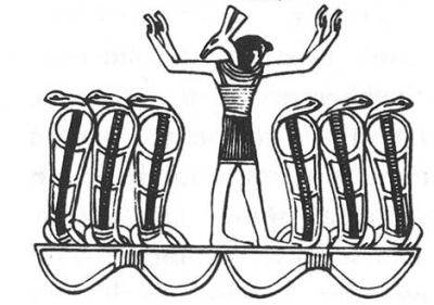 Бог Херуифи, объединяющий Гора и Сета
