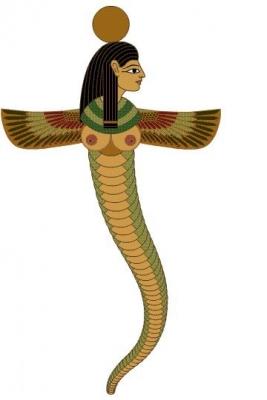 Богиня Уто. Книжная иллюстрация