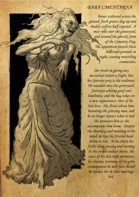 Кладбищенская баба (Baba Cmentarna). Рисунок Лукаша Станеца