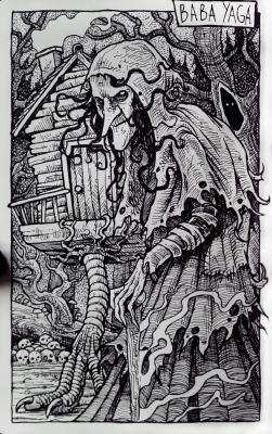Баба Яга. Иллюстрация Дарека Кшака (DK13Design)