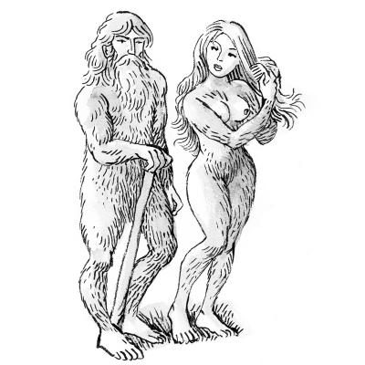 Башахаун и Башаандере. Иллюстрация за авторством Morburre
