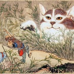 Бакенэко. Рисунок Каванабэ Кёсай
