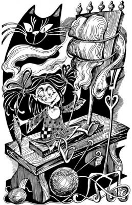 Кикимора. Рисунок Ольги Анциферовой