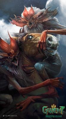 """Экимма. Иллюстрация Бартоломея Гавела к ККИ """"Gwent: The Witcher Card Game"""""""