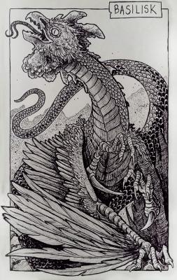 Василиск. Иллюстрация Дарека Кшака (DK13Design)