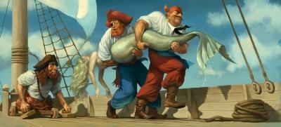 Большая рыба. Иллюстрация Вальдемара Казака