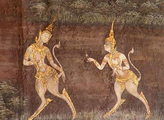 Бирманские киннары. Книжная иллюстрация
