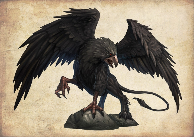 Черный грифон. Иллюстрация Дмитрия Бурмака