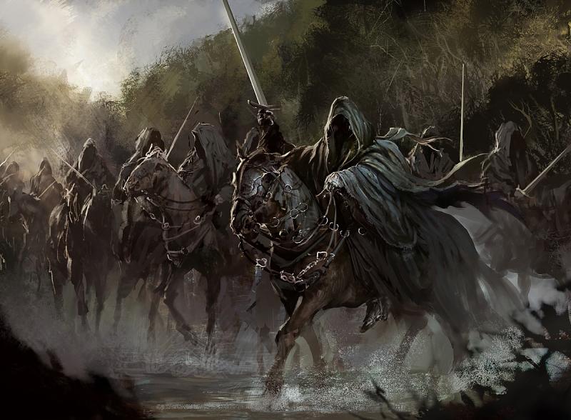 Черные всадники. Иллюстрация Дарека Заброцкого