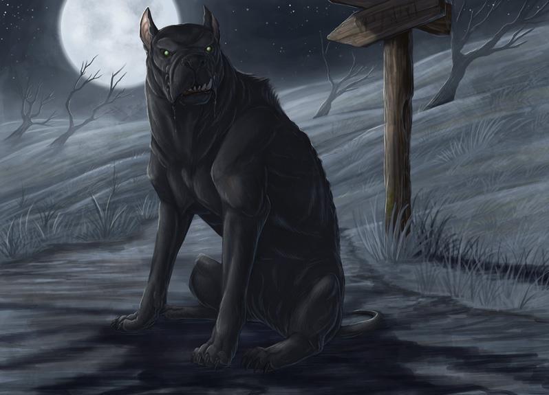 Черный пёс. Иллюстрация Бринн Мезени