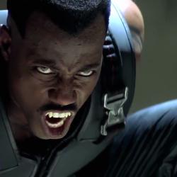 """Уэсли Снайпс в роли дхампира Блэйда (""""Blade"""", 1998 год)"""