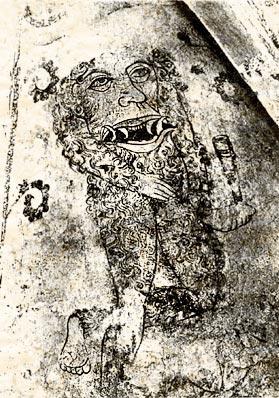 Блемий на фреске в Церкви Раби
