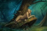 Водяной и русалка. Иллюстрация Klaher Baklaher