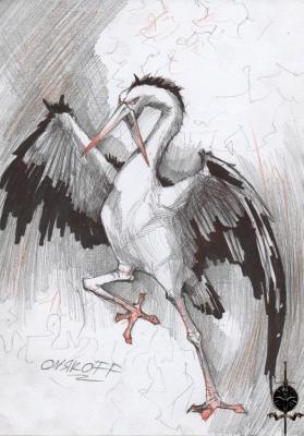 Вочан или Бочек. Иллюстрация Ивана Онякова к бестиарию Сапковского
