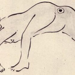Сиримэ. Автор рисунка Ёса Бусон (Yosa Buson, 与謝蕪村)