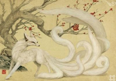 Хули-цзин. Иллюстрация Лю Ливена (刘力文)
