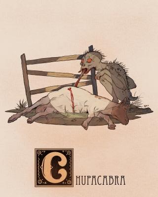 """Чупакабра. Иллюстрация Натана Андерсона (Nathan J. Anderson, """"Deimos-Remus"""")"""