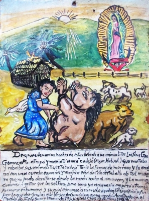 Ретабло Гваделупы Гомес М. в благодарность Деве Гваделупской за помощь в победе над кадехо, 1908 год