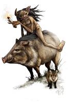Курупира. Иллюстрация Греко Вестерманна