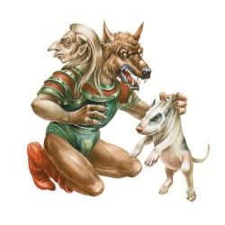 """Кэпкэун. Иллюстрация из книги """"Загадочные существа"""""""