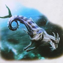 """Козерог. Иллюстрация из книги """"Мифические существа"""""""