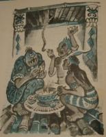Буринкантада. Иллюстрация Леонида Владимирского к филиппинской сказке