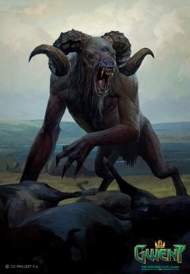 """Чёрт. Иллюстрация Бартоломея Гавела к ККИ """"Gwent: The Witcher Card Game"""""""