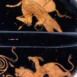 Беллерофонт и Химера. Краснофигурная керамика, около 420-400 гг. до н.э.