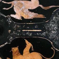 Химера и пегас. Краснофигурная керамика, около 420-400 гг. до н.э.
