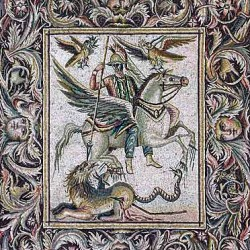 Беллерофонт и Химера. Напольная мозайка, Пальмира
