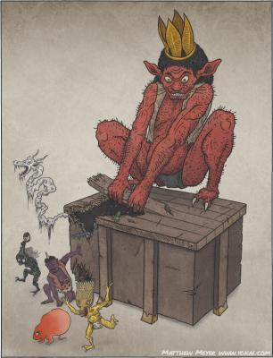 Тиридзука Кайо. Иллюстрация Мэттью Мэйера