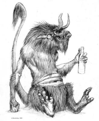 Чёрт. Рисунок Алексея Монжалея