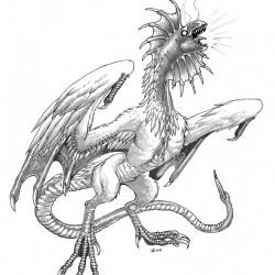 Кокатрис. Рисунок Айзека Хорна