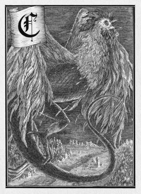Кокатрис. Иллюстрация Юлии Широниной (CoalRye)