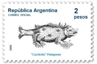 Кучивило на аргентинской почтовой марке