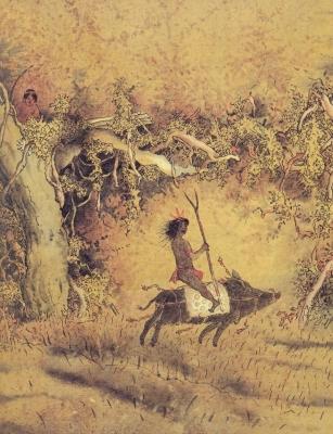 Курупира. Иллюстрация Николая Попова